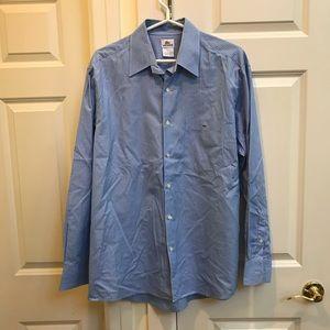 Lacoste Blue Striped Casual Men's Shirt
